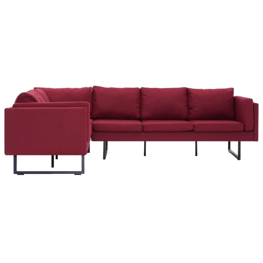 Corner Sofa Red Fabric - Furnitureonline